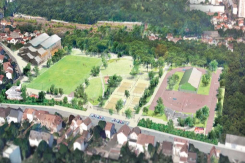 Construction dun complexe sportif et réaménagement du parc des sports à Romainville 2