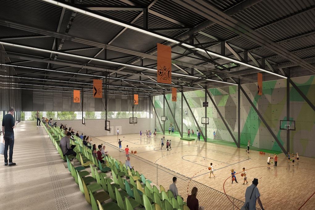 Construction dun pôle sportif de 9 salles à Saint Cyr lEcole 2