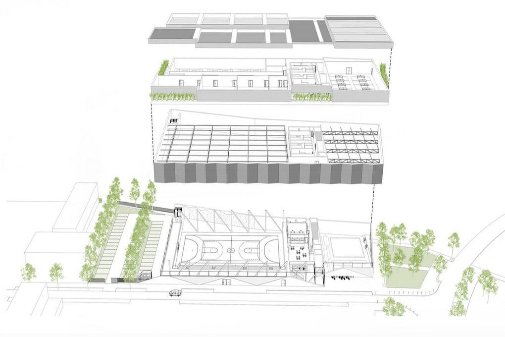Construction dun pôle sportif de 9 salles à Saint Cyr lEcole 4