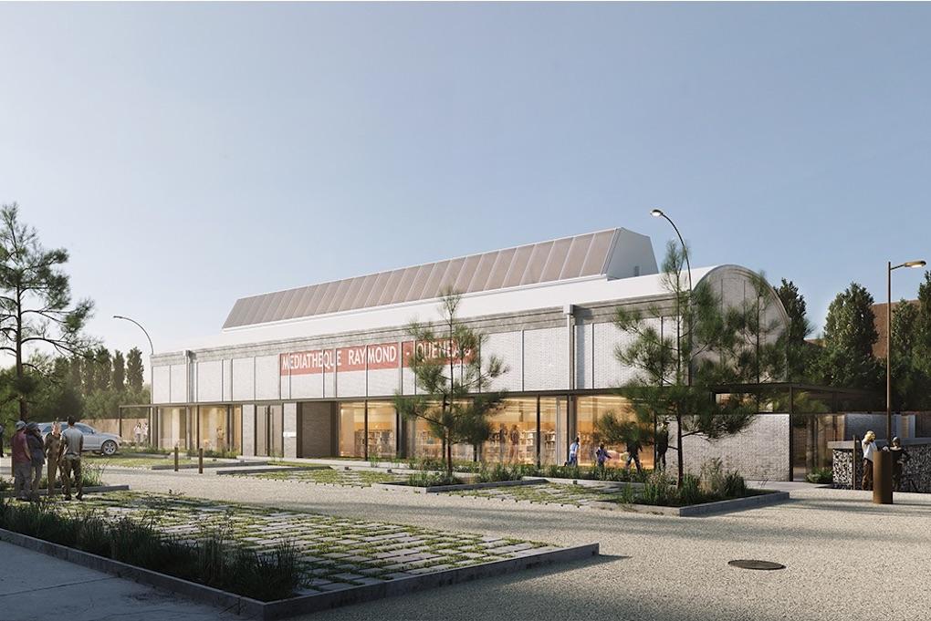 Reconstruction de la médiathèque à Ris Orangis 2